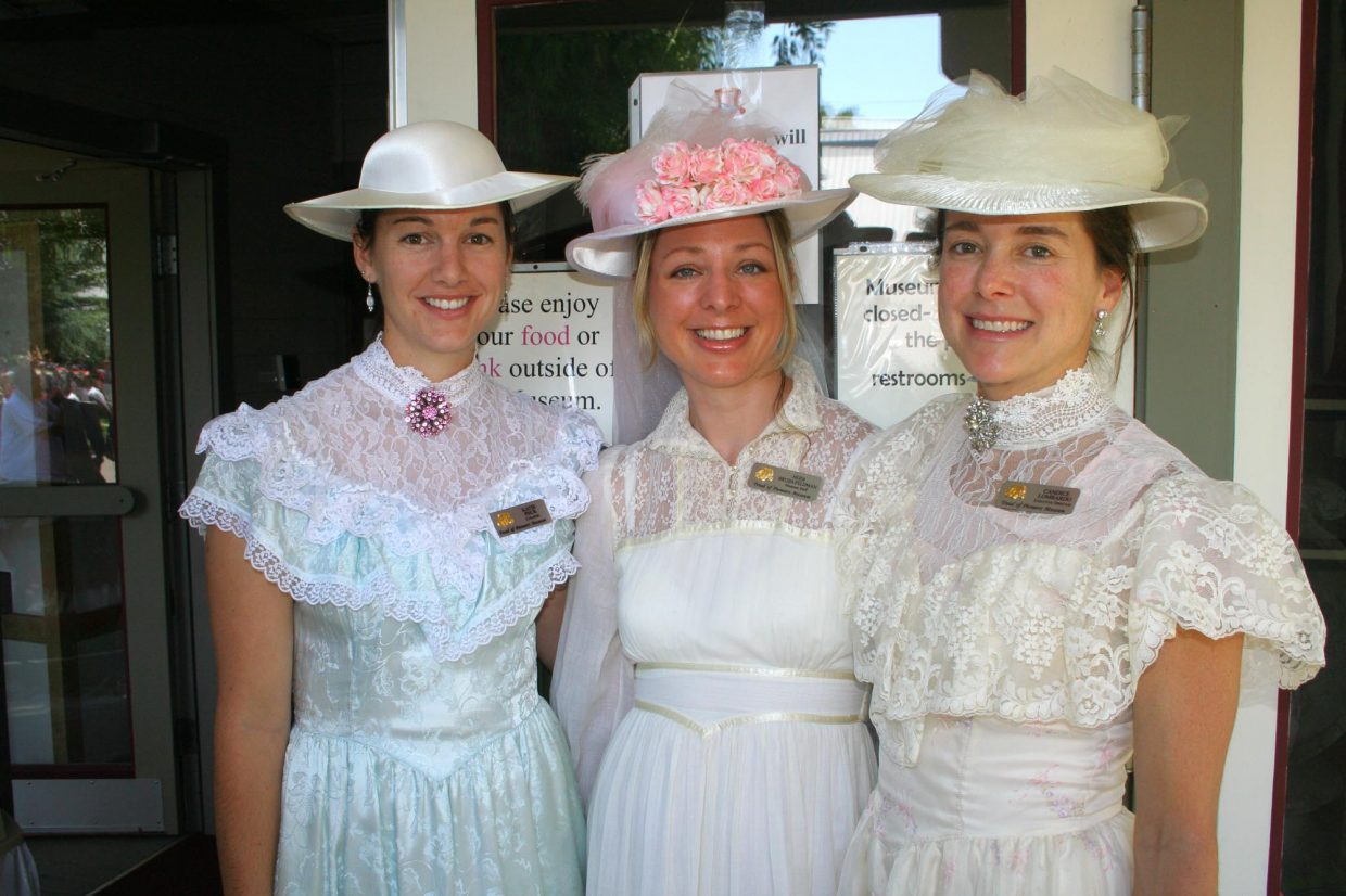 Pioneer Day Block Party at the Tread of Pioneers Museum, 11 a.m. to 1 p.m.: Featuring the character of Maggie Crawford sharing stories about Steamboat's first Fourth of July celebration. FREE museum admission, community concert, hot dogs and children's games. Routt beer floats are $3. 970-879-2214. 800 Oak St. (Photo: Staff members at the Tread of Pioneers Museum dress in Victorian-era outfits during the 2008 Pioneer Day Block Party.)
