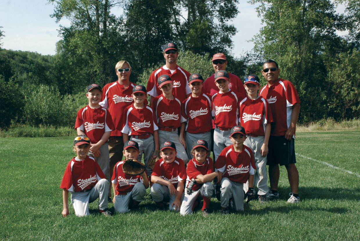 The Steamboat Mudcats won the Steamboat Little League Minors championship. Pictured, back row from left, coaches Jarrett Duty, David Gedeon, Joey Colombo and George Ibarra. Middle, from left, Ryan Hansen, Barret Taylor, Sean Janka, Cameron Colombo, Cole Gedeon and Connor Hansen. Front, from left, Alan Duty, Calvin Zuschlag, Owen Taylor, Cade Gedeon and Austin Ibarra.