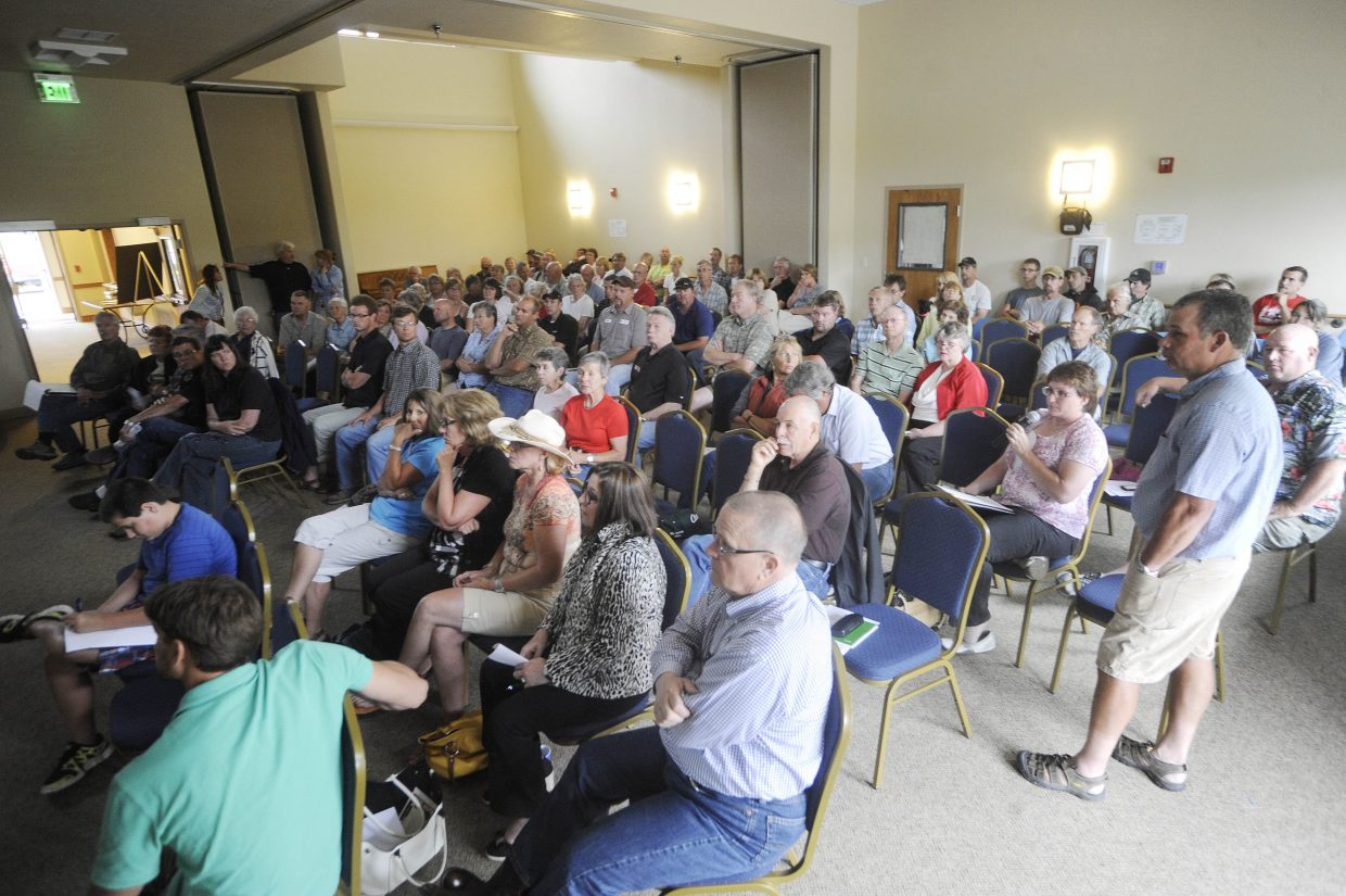 About 75 people attended a meeting in Hayden on Thursday night to learn about a casino development being proposed near Yampa Valley Regional Airport.
