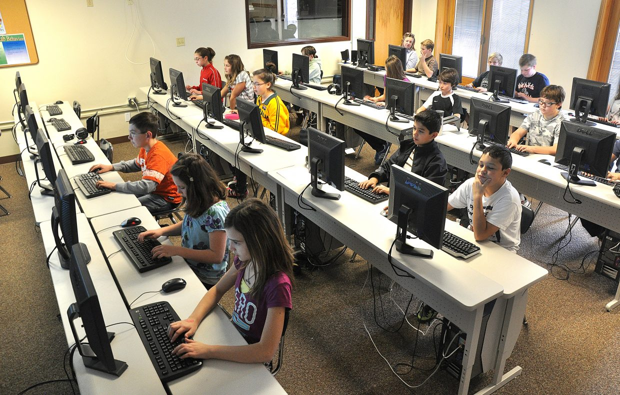 Steamboat Springs Middle School students work in a computer lab. Some leading educators here say a proposed tax increase to support education will be difficult to pass in November.