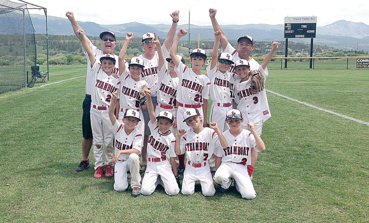The Steamboat Springs U10 baseball team included, back row, from left, coaches Jim Hansen, Jarett Duty and George Ibarra; middle row, from left, Ethan Hansen, Marrat Washburn, Beck Kuhlman, Alan Duty, Grayson Tracy and Liano Conejo; and front row, from left, Ollie Rotermund, Austin Ibarra, Colter Gansman and Walker Ripley.