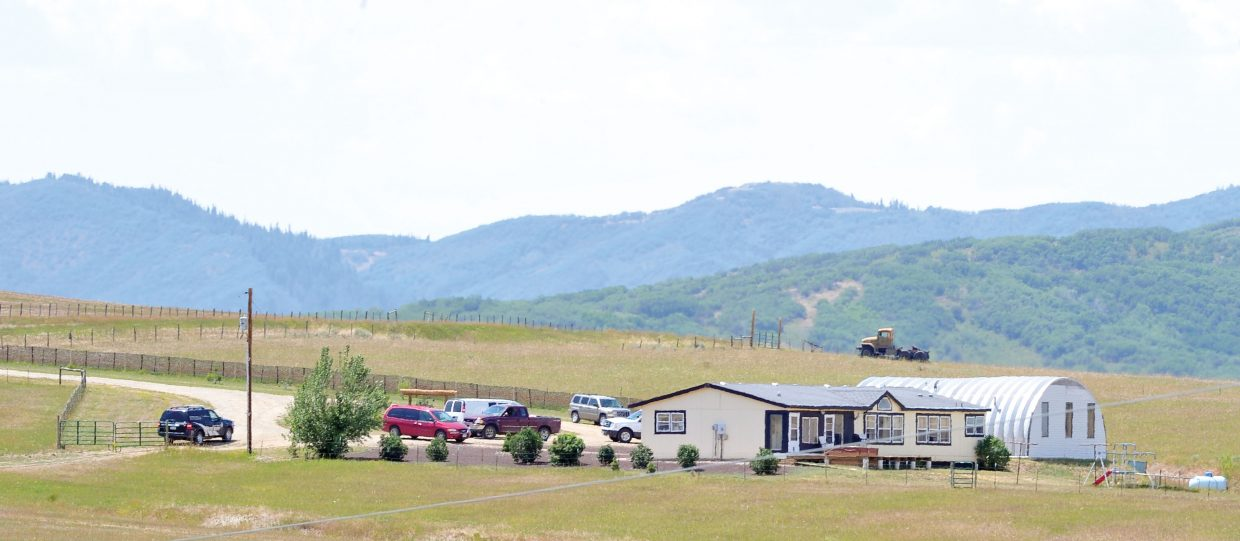Routt County Sheriff's Office deputies and the coroner were called Wednesday to this home on Routt County Road 33B to investigate an apparent murder-suicide.