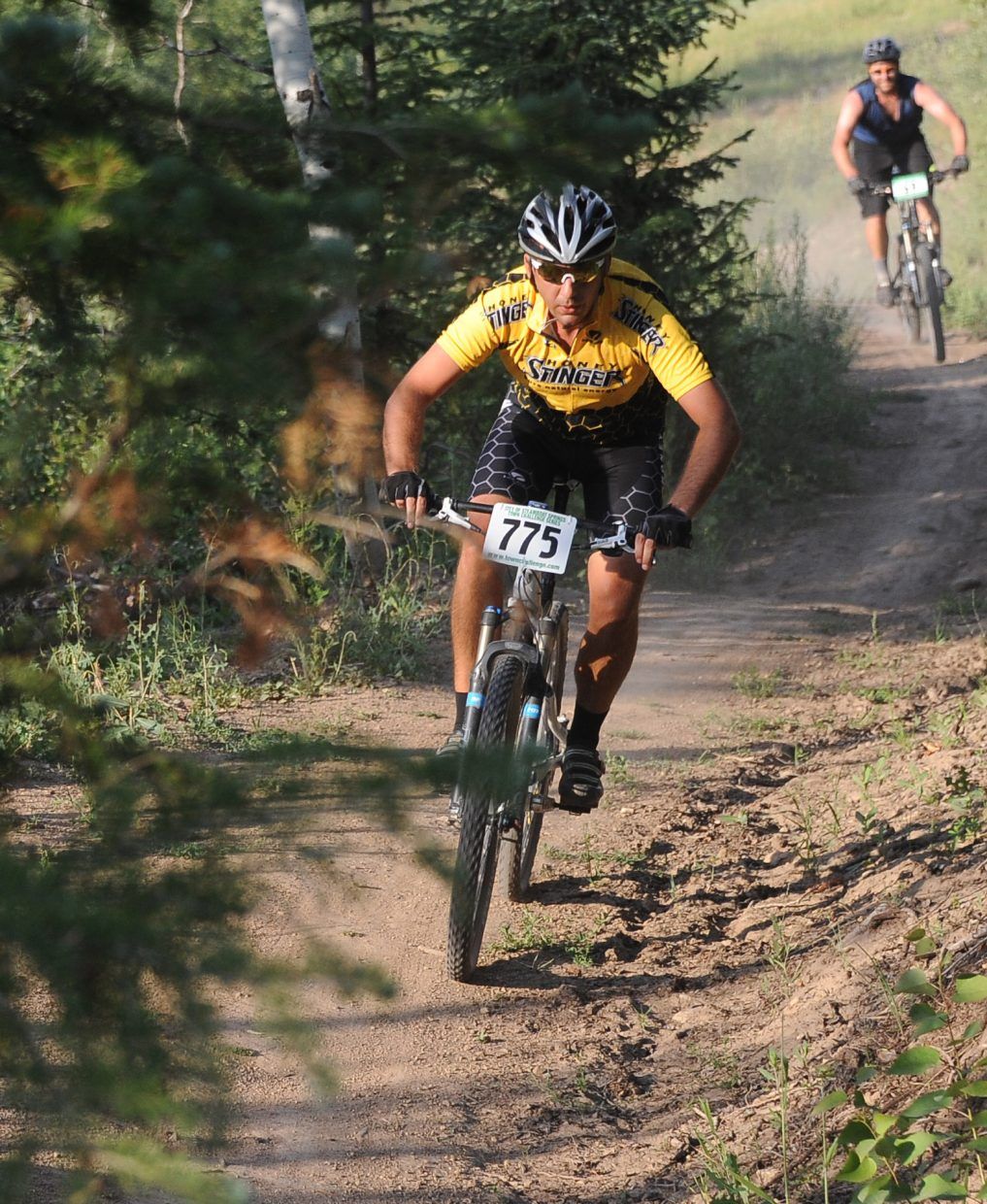 Christian Levan races Wednesday in the Sunshine Loop Town Challenge race at Steamboat Ski Area.