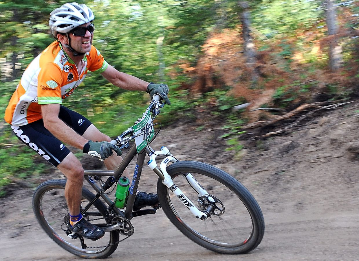 Sars Larson races Wednesday in the Sunshine Loop Town Challenge race at Steamboat Ski Area.