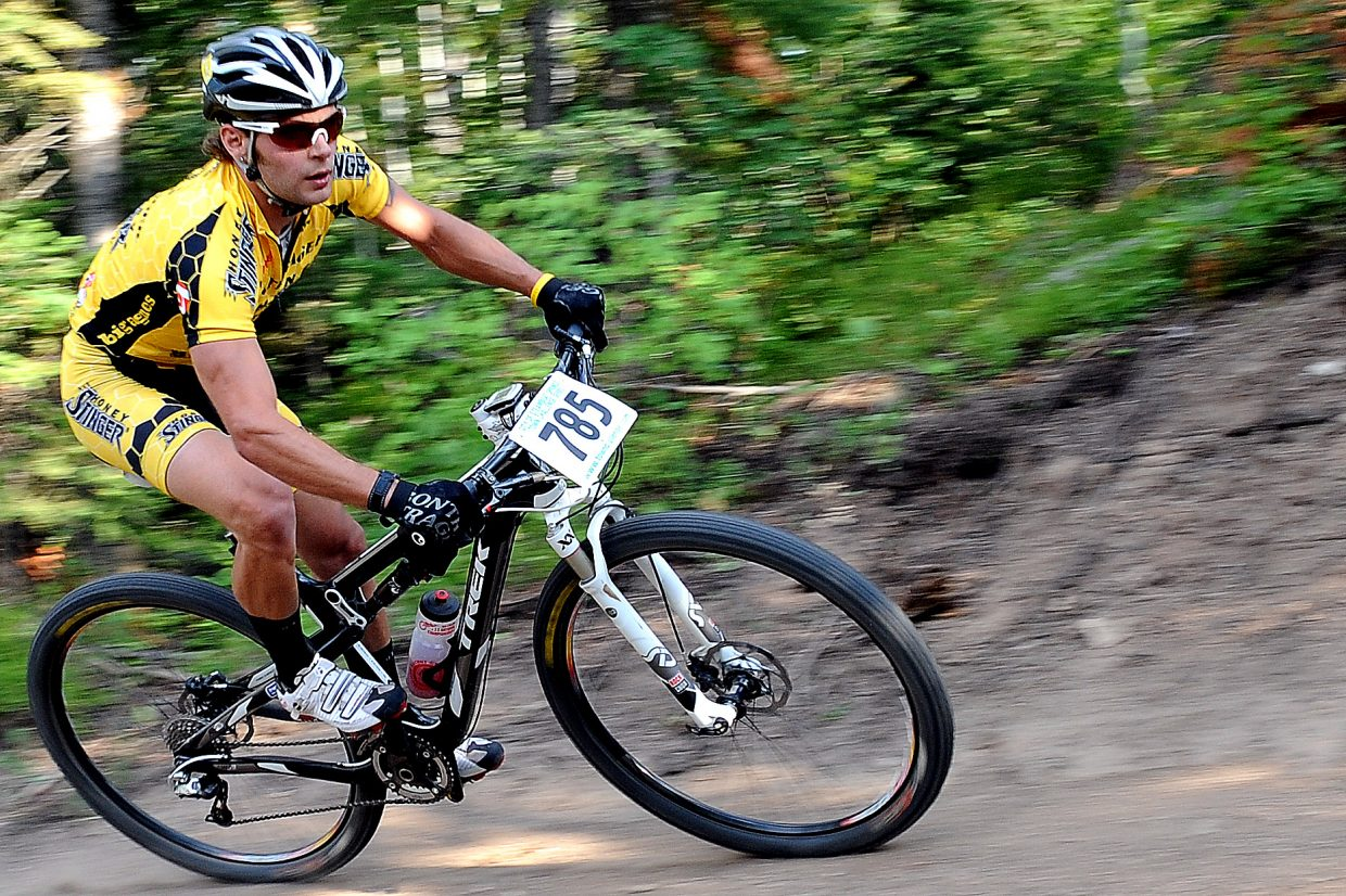 Trevor Walz races Wednesday in the Sunshine Loop Town Challenge race at Steamboat Ski Area.