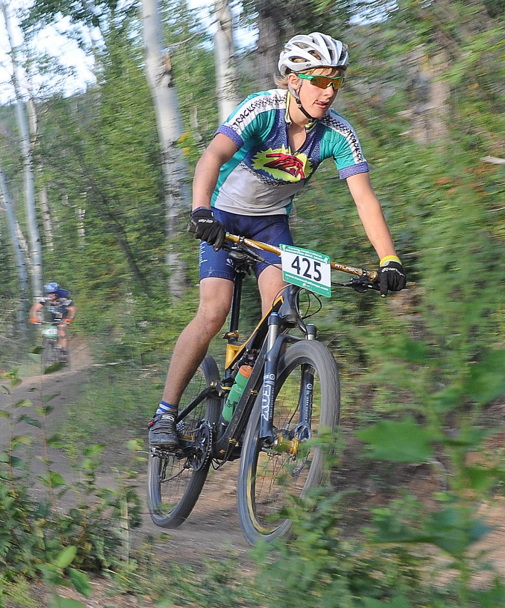 Tanner Heil races Wednesday in the Sunshine Loop Town Challenge race at Steamboat Ski Area.