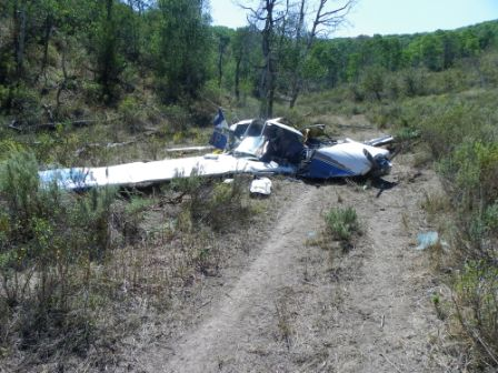 Peter Landherr was killed in this plane crash about three miles north of the Camilletti Ranch house at the end of Routt County Road 48 near Milner in August 2012.