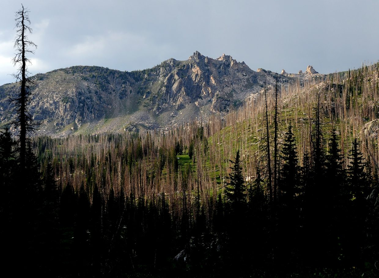 The craggy peaks of the Sawtooth Range stand high in the Mount Zirkel Wilderness Area.