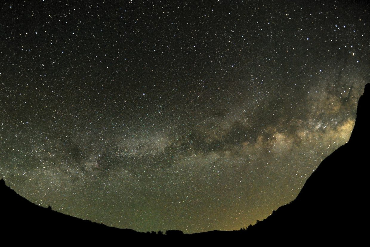The spectacular star clouds of our Milky Way galaxy can be seen on any clear, dark, summer night. It forms a misty arch that runs north to south and passes overhead.