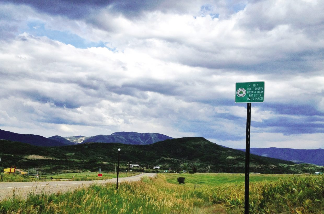 The Routt County Road and Bridge Department is installing signs that encourage visitors and residents to refrain from littering.
