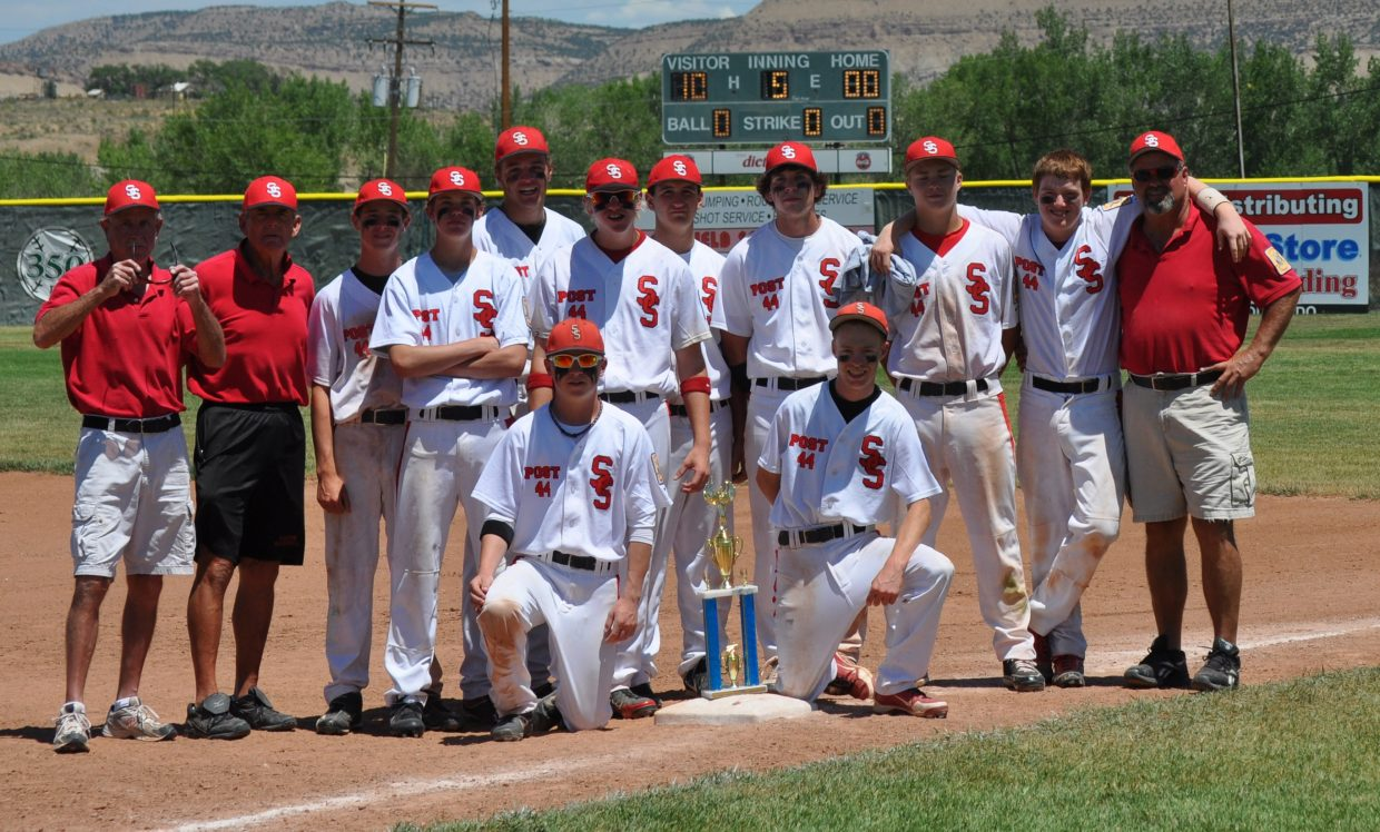 Steamboat's American Legion baseball team pushed its seasonlong record to 18-6 on Sunday when it wrapped up the championship of the Rangely tournament, surviving the weekend on strong pitching and timely offense. The squad returns to action this weekend with a trip to Buena Vista.