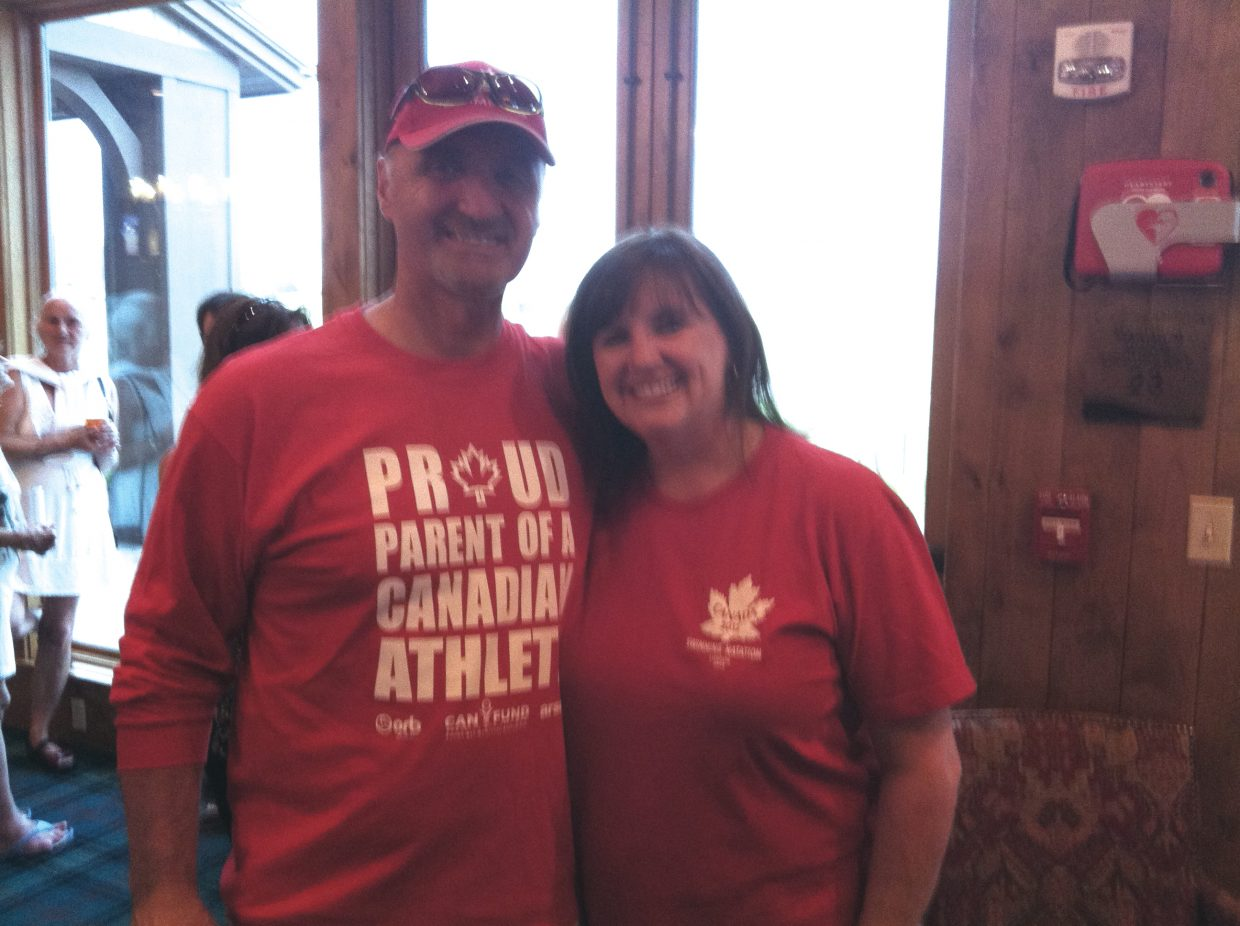 Don and Patti Worsley leave for London on Tuesday. Their son Blake is swimming for the Canadian Olympic team in the 200-meter freestyle and 800-meter relay.