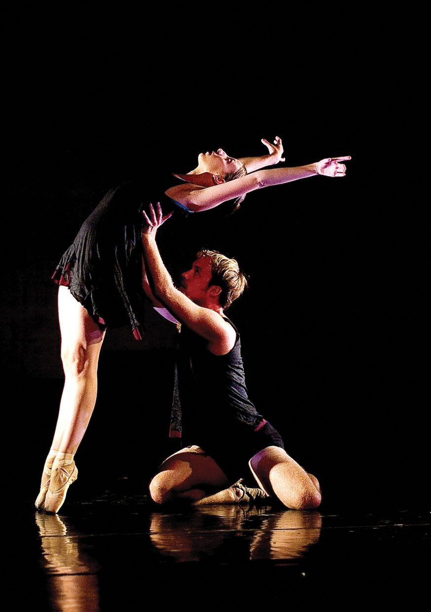 Dancers Bryony McCullough and Christopher LaFleche perform