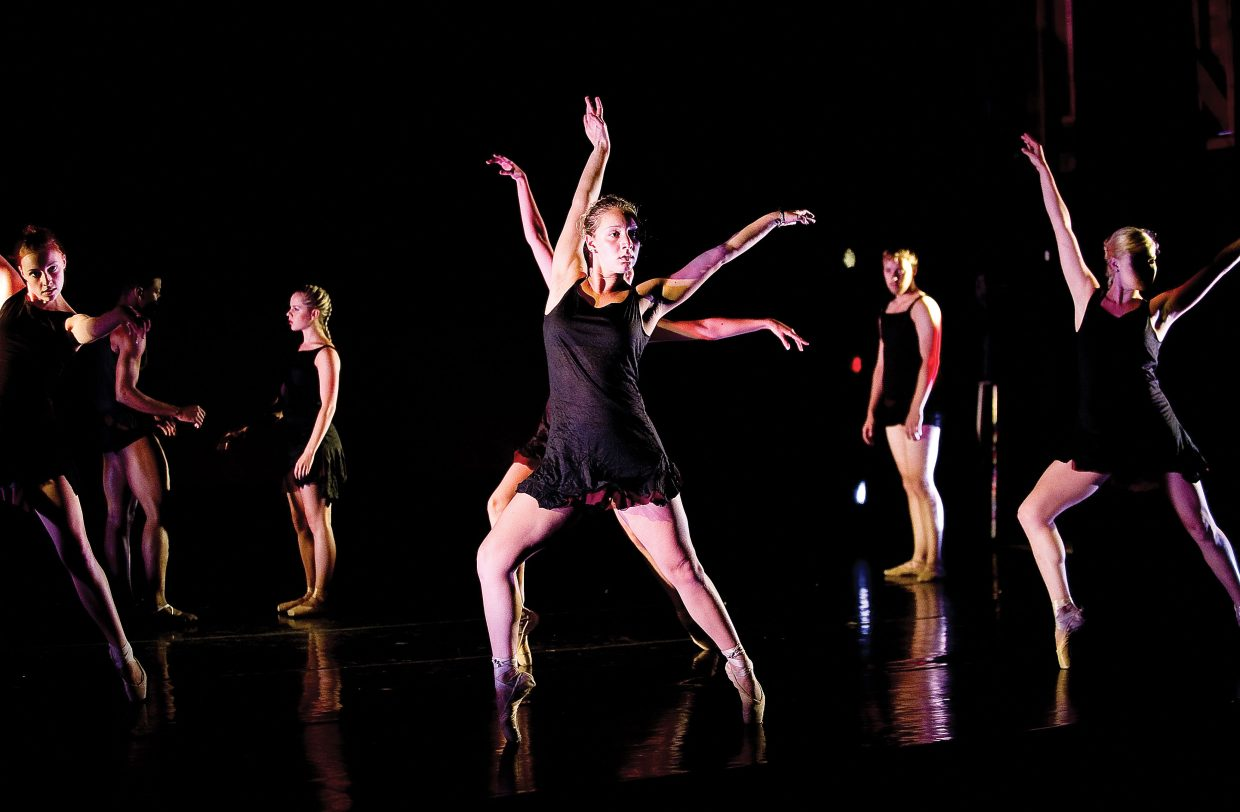 "Brielle Carreira and company perform ""Slow Falling"" a dance choreographed by Rick McCullough that will world premiere at this weekend's Evening of Dance at the Perry-Mansfield Performing Arts School and Camp."