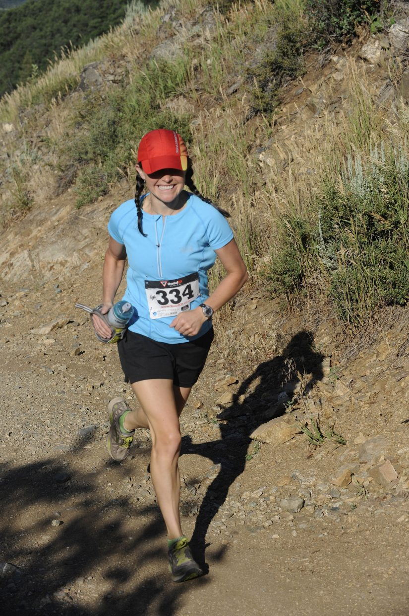 Kelly Heaney competes in the Steamboat Springs Running Series Spring Creek Memorial race Saturday. Heaney was the fastest woman in the 9-mile race.