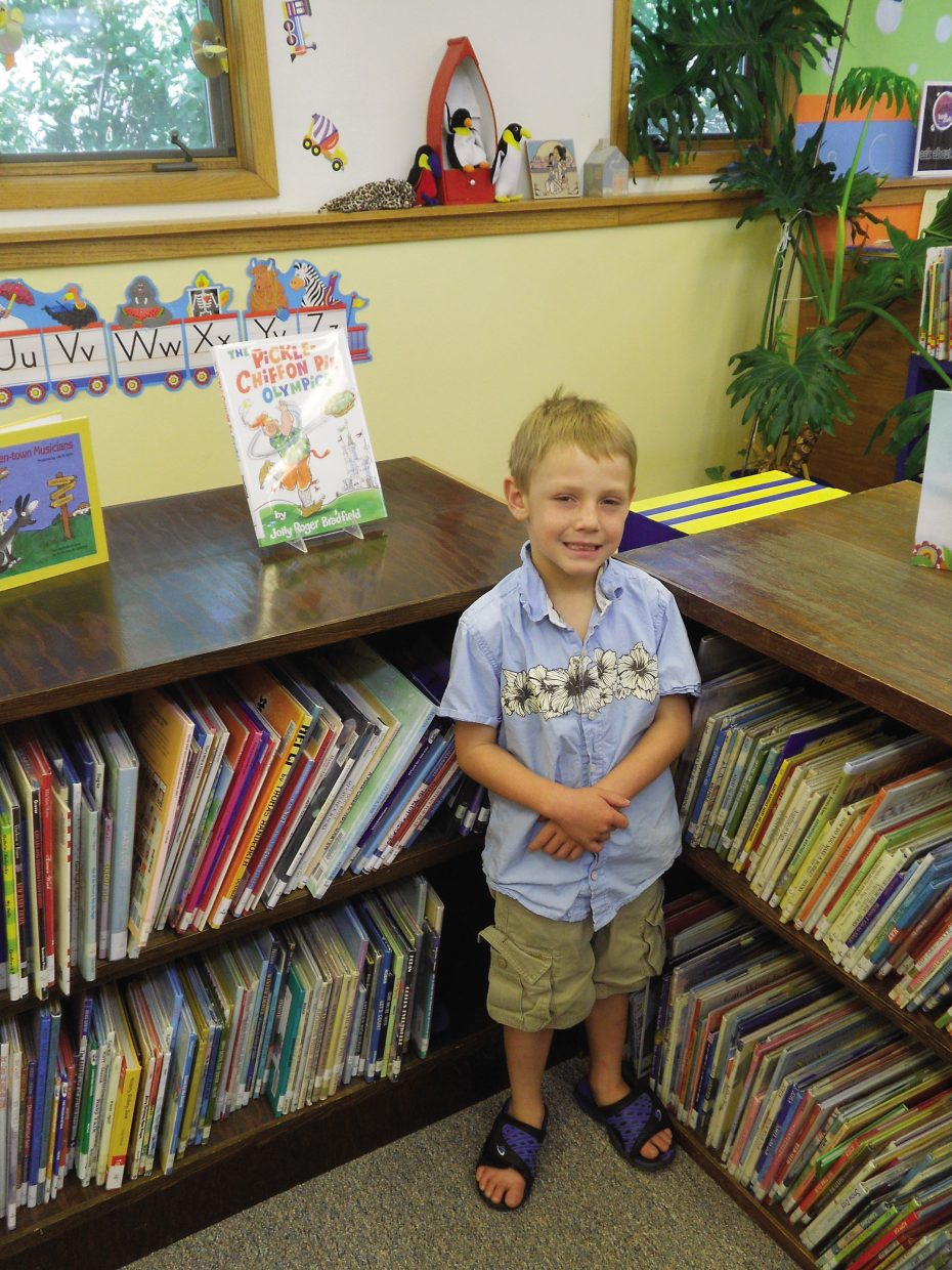 Cameron Campbell, of Hayden, was chosen as the sixth Hayden Public Library Reader of the Week.