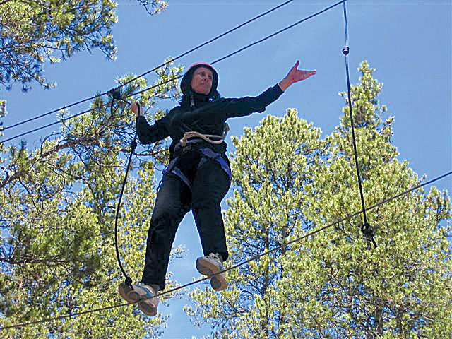 Diane Moore practices her own courage during the Women's Survivor Course at Outward Bound in Leadville two years ago.