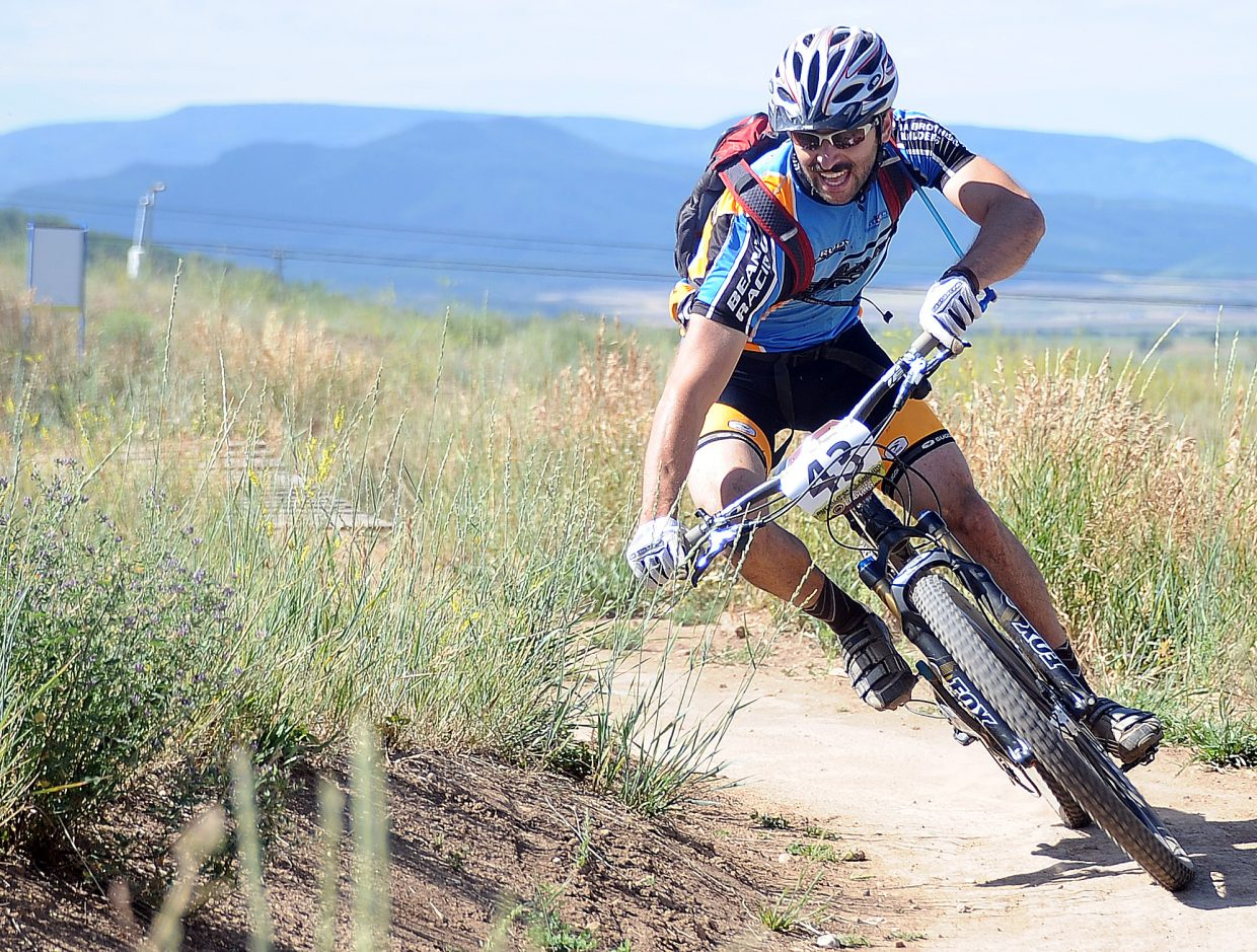 Steamboat's D.J. Nudy rides Sunday in the Buff Pass Enduro.