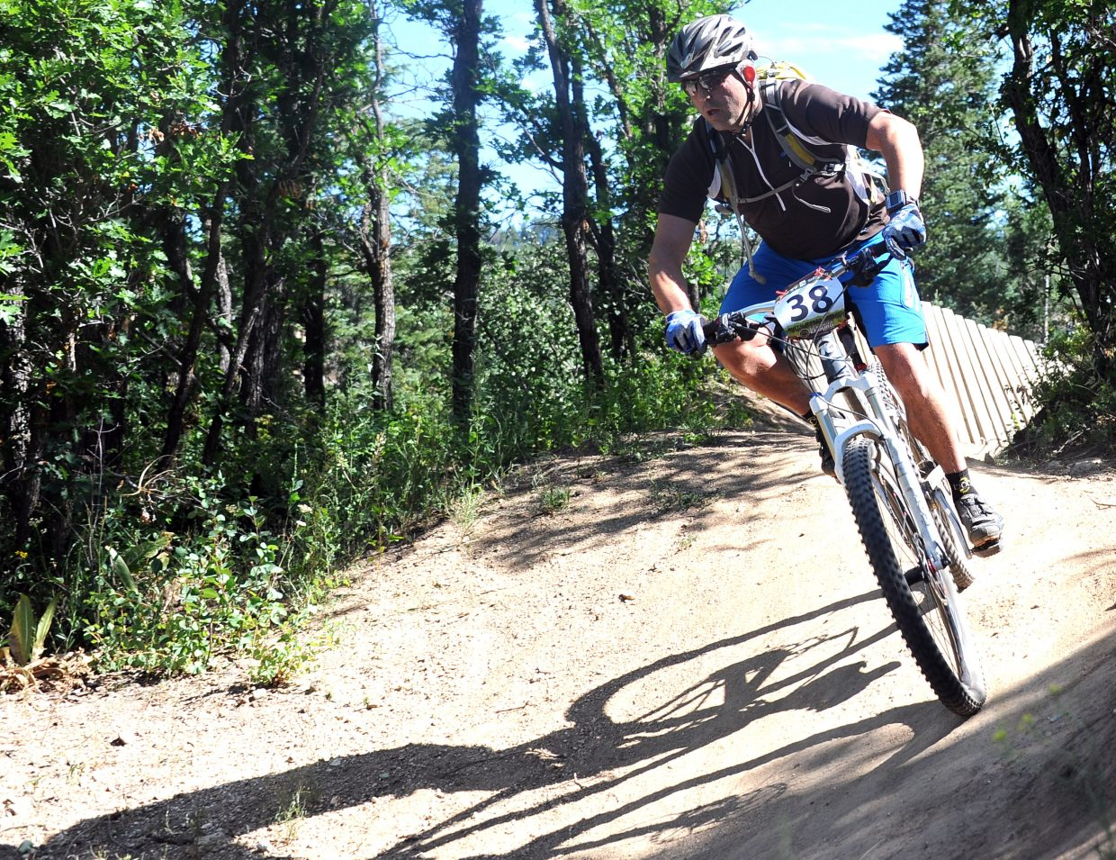Dave Marrs rides Sunday in the Buffalo Pass Enduro race in Steamboat Springs.