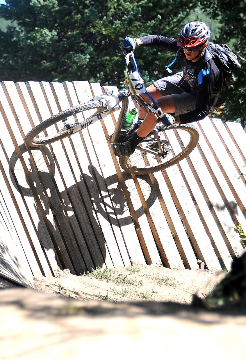 Murphy Roberts rides Sunday in the Buffalo Pass Enduro race in Steamboat Springs.