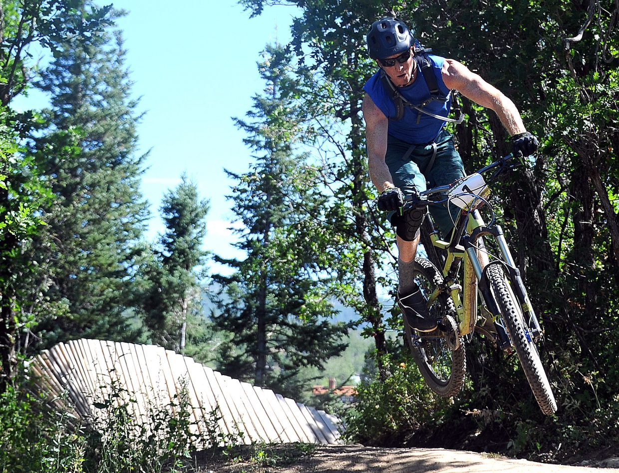 Tony Achilli rides Sunday in the Buffalo Pass Enduro race in Steamboat Springs.