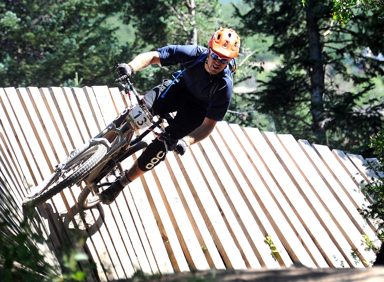 Alex Diebold rides Sunday in the Buffalo Pass Enduro race in Steamboat Springs.