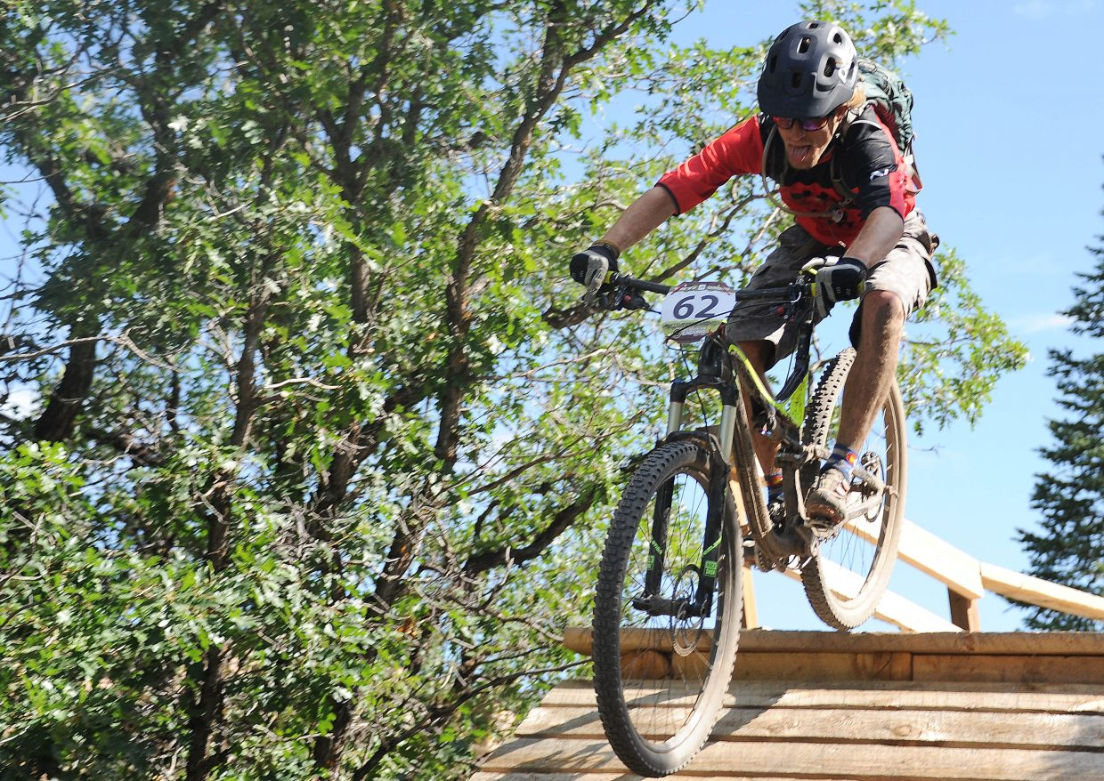 Brian Morgan rides Sunday in the Buffalo Pass Enduro race in Steamboat Springs.