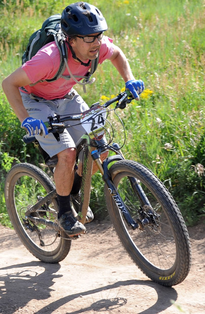 Brett Foncannon rides Sunday in the Buffalo Pass Enduro race in Steamboat Springs.