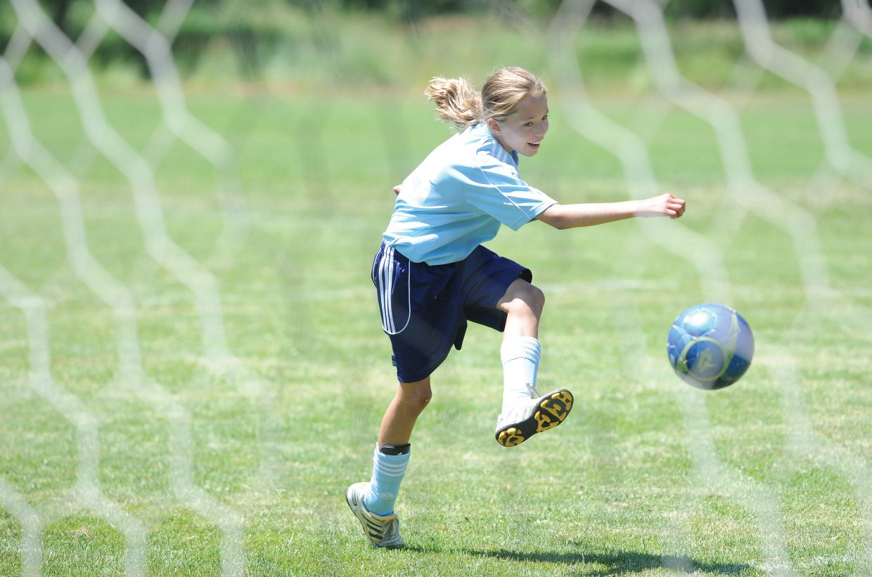 Steamboat Springs soccer player Katie Lake warms up for a game in last weekend's Steamboat Mountain Soccer Tournament.