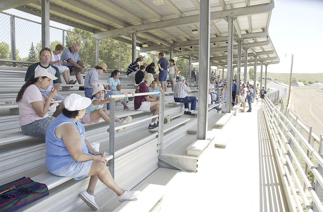 Colorado Days participants found relief from the heat in the Routt County Fairgrounds grandstands.