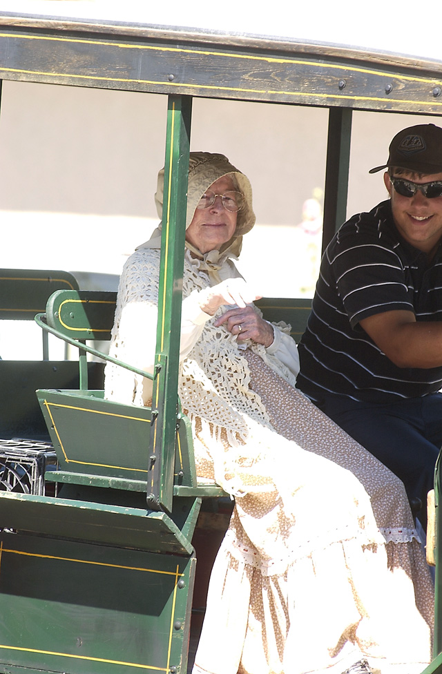 Lucille Sundberg, 98, was the grand marshal for this year's Colorado Days parade. Sundberg's family moved to Hayden when she was 2 years old.