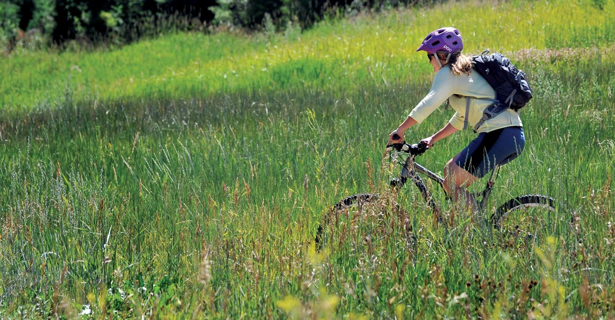 Trails are open for hiking and biking as ways to enjoy the outdoors.