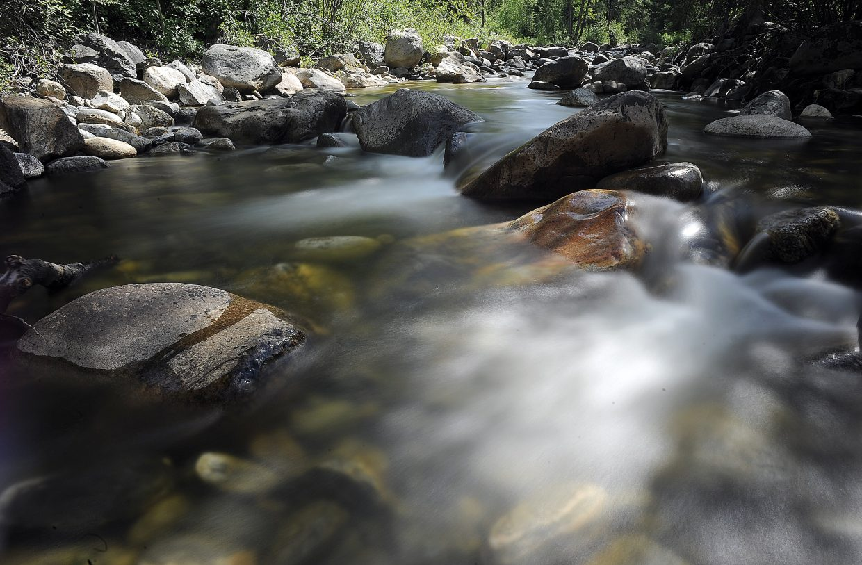 The rolling waters of Fish Creek have returned to normal levels for this time of year after several days of low flow. Officials released water from Fish Creek Reservoir after levels dropped the past few days.