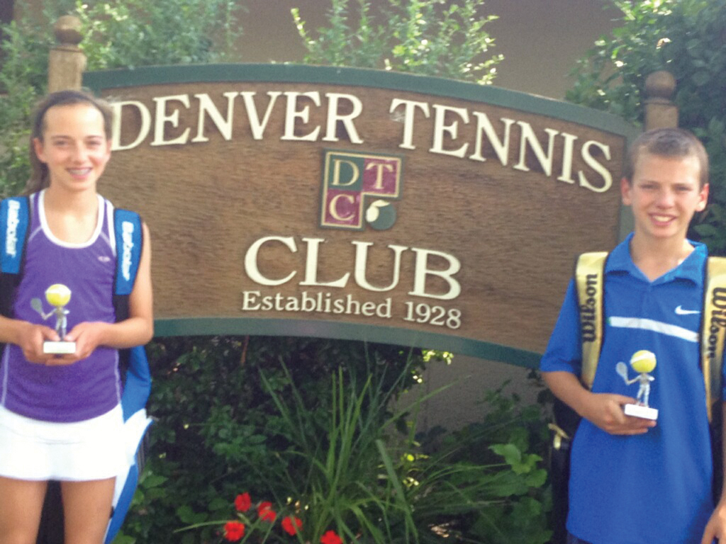 Tatum and Teague Burger both won the Denver Junior City Open tournament in their division on July 23.