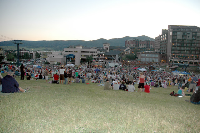 Thursday's free Los Lobos concert attracted hundreds of Routt County residents and visitors.