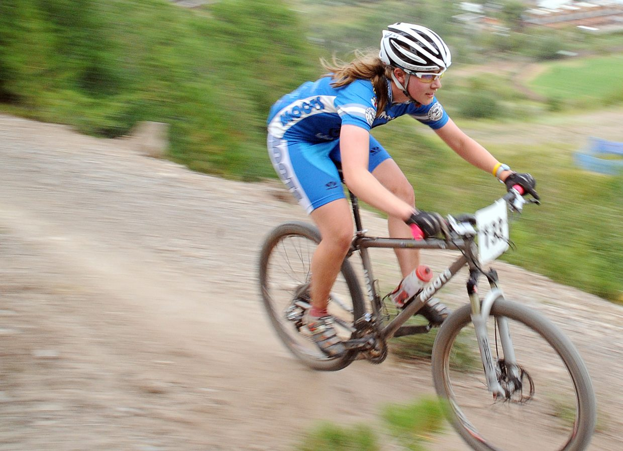 Linnea Dixson rides Wednesday in the Town Challenge race in Steamboat Springs.
