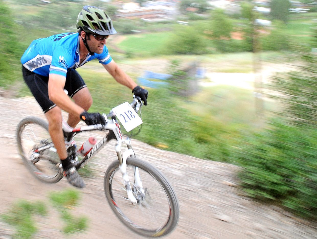 Jon Casson rides Wednesday in the Town Challenge race in Steamboat Springs.
