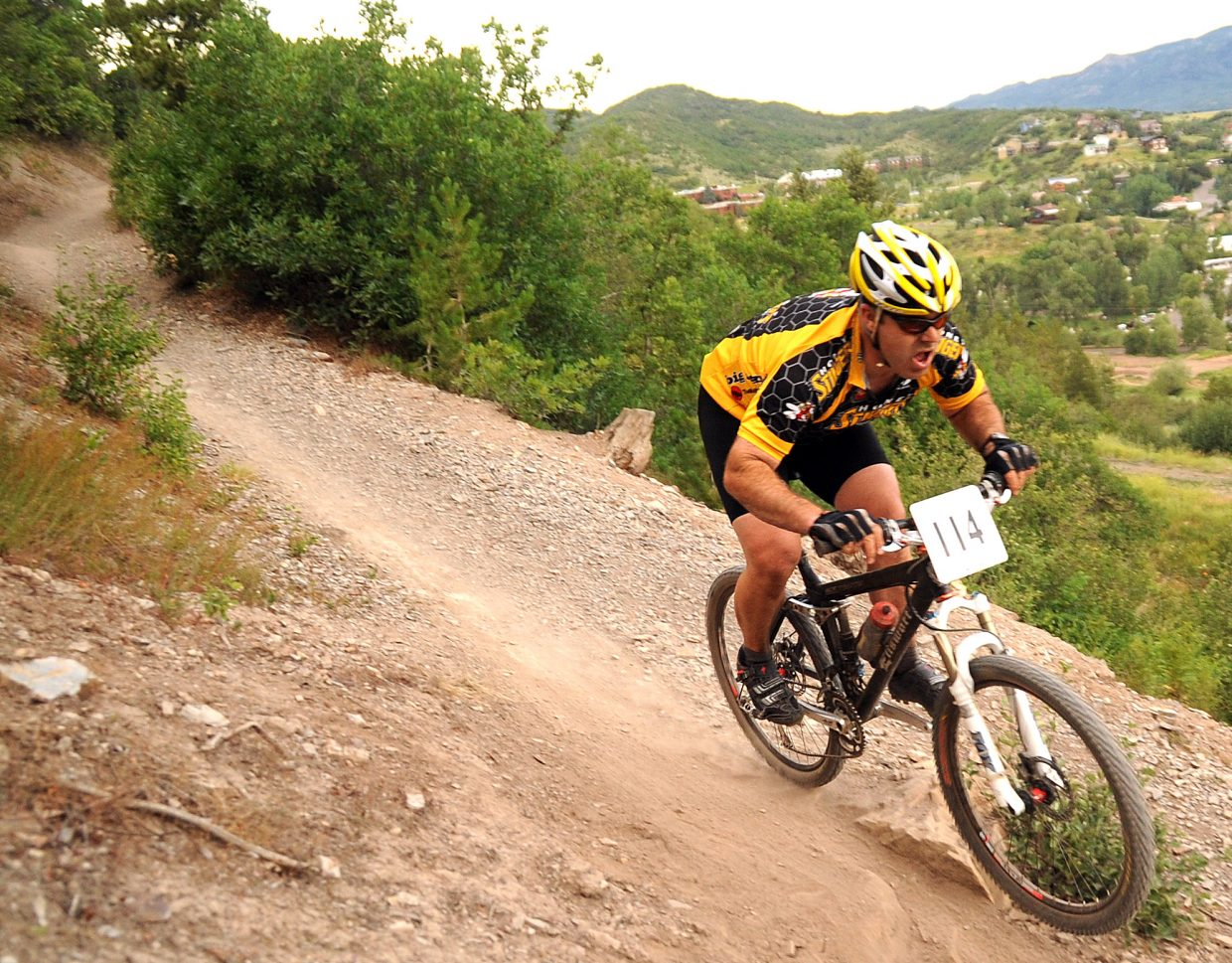 Kevin Hendrickson rides Wednesday in the Town Challenge race in Steamboat Springs.
