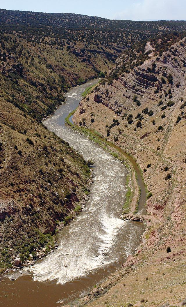 On the north side of the Yampa River near Maybell, water is diverted to the Maybell Ditch, which is used by residents and ranchers.