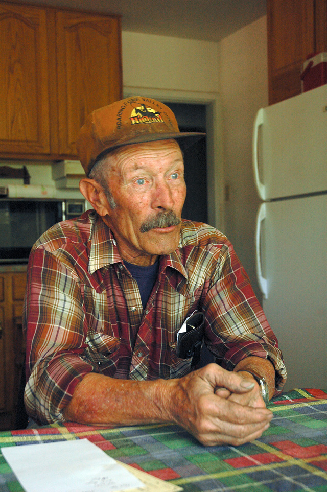 Longtime rancher Dick Palmer holds court in the kitchen of his south Yampa home. He and his wife, Kay, have lived on their 1,200-acre ranch for 36 years.