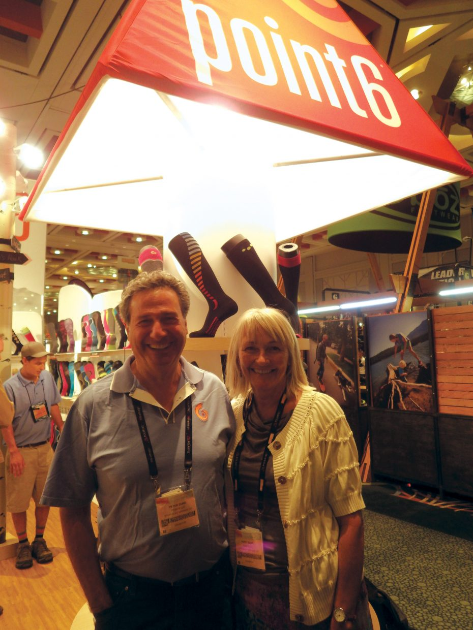 Peter and Patty Duke represent Point6 at the Outdoor Retailer Summer Market trade show from July 31 to Aug. 3 in Salt Lake City.