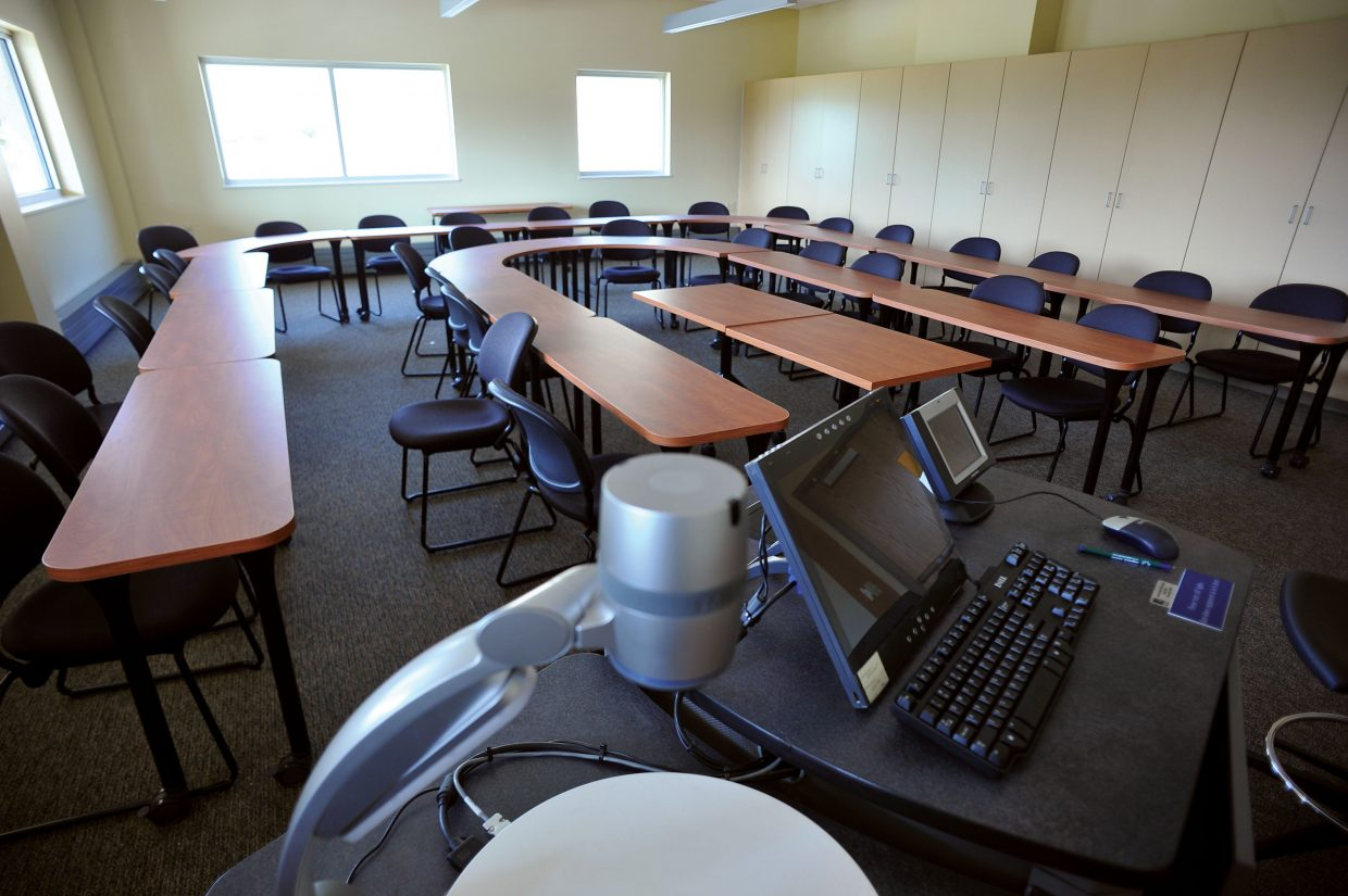 Many of the classrooms in the Steamboat Academic Center on the Colorado Mountain College's Alpine Campus are ready for students. Work still continues on some parts of the building, but employees began moving into the building.