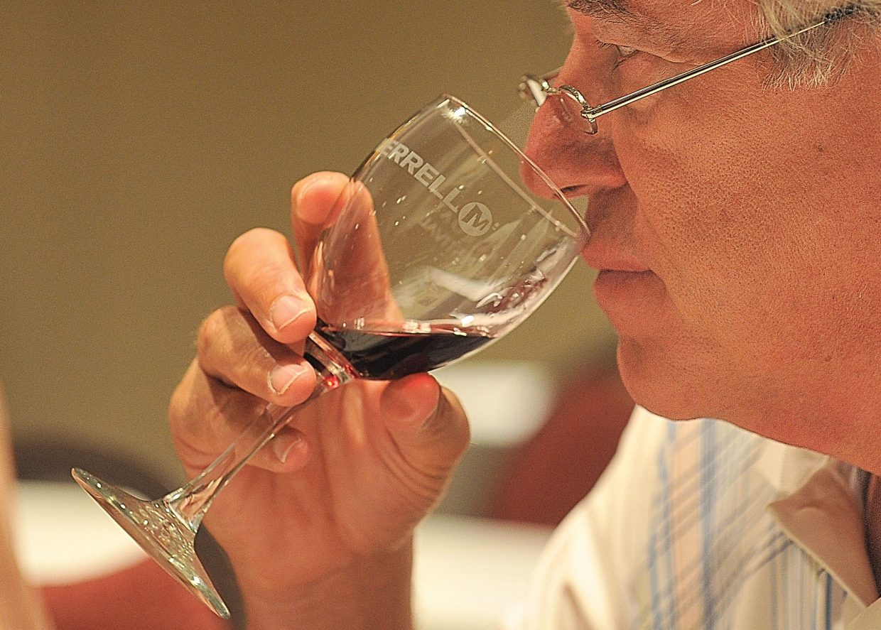 Dan Schwartz, of Fort Collins, tastes wine during a blending seminar at the ninth annual Steamboat Wine Festival on Friday afternoon.