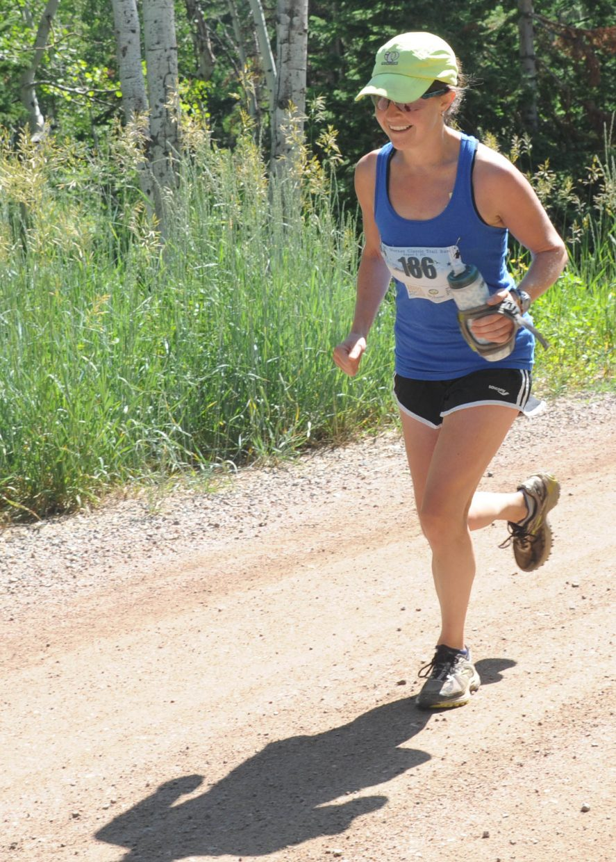 Kelly Bedell runs Saturday in the Mount Werner Classic in Steamboat Springs.