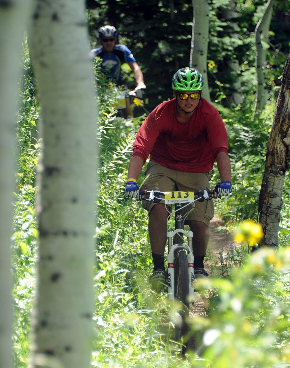 John Wharton rides Sunday in the Ride 4 Yellow event in Steamboat Springs.