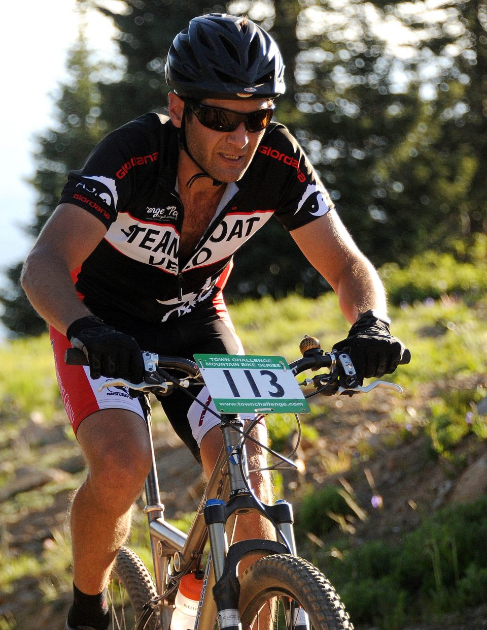 Peter Boniface rides Wednesday in the Storm Peak Challenge race in Steamboat Springs.