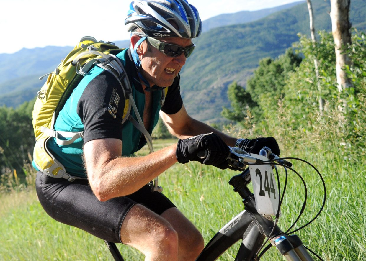 Stephan Zittel rides Wednesday in the Storm Peak Challenge race in Steamboat Springs.