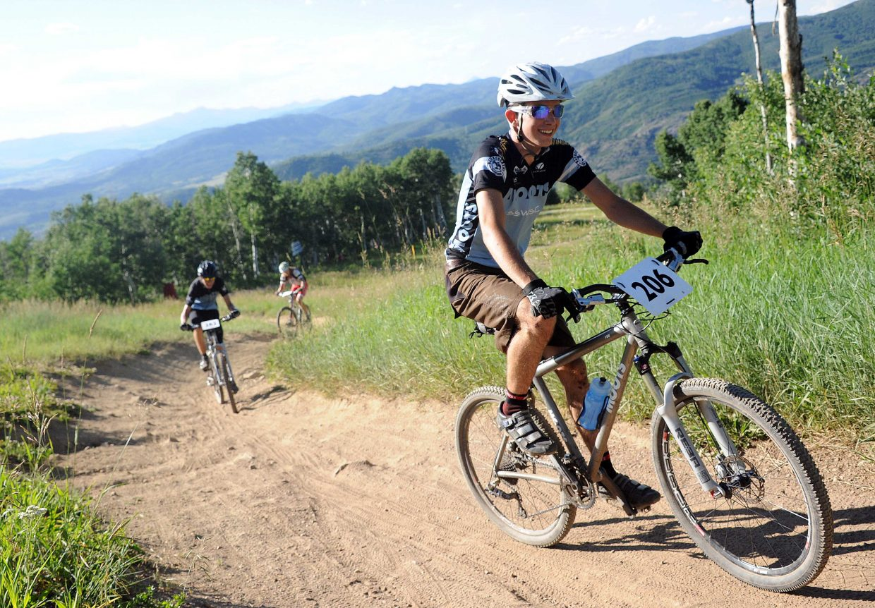Alec Schaffer rides Wednesday in the Storm Peak Challenge race in Steamboat Springs.