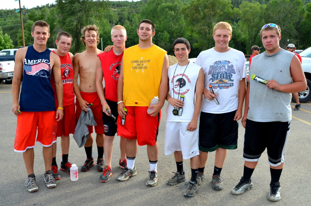 The Steamboat Springs High School football team raced to the top of Howelsen Hill on Friday as part of the annual event. Pictured are this year's seniors.