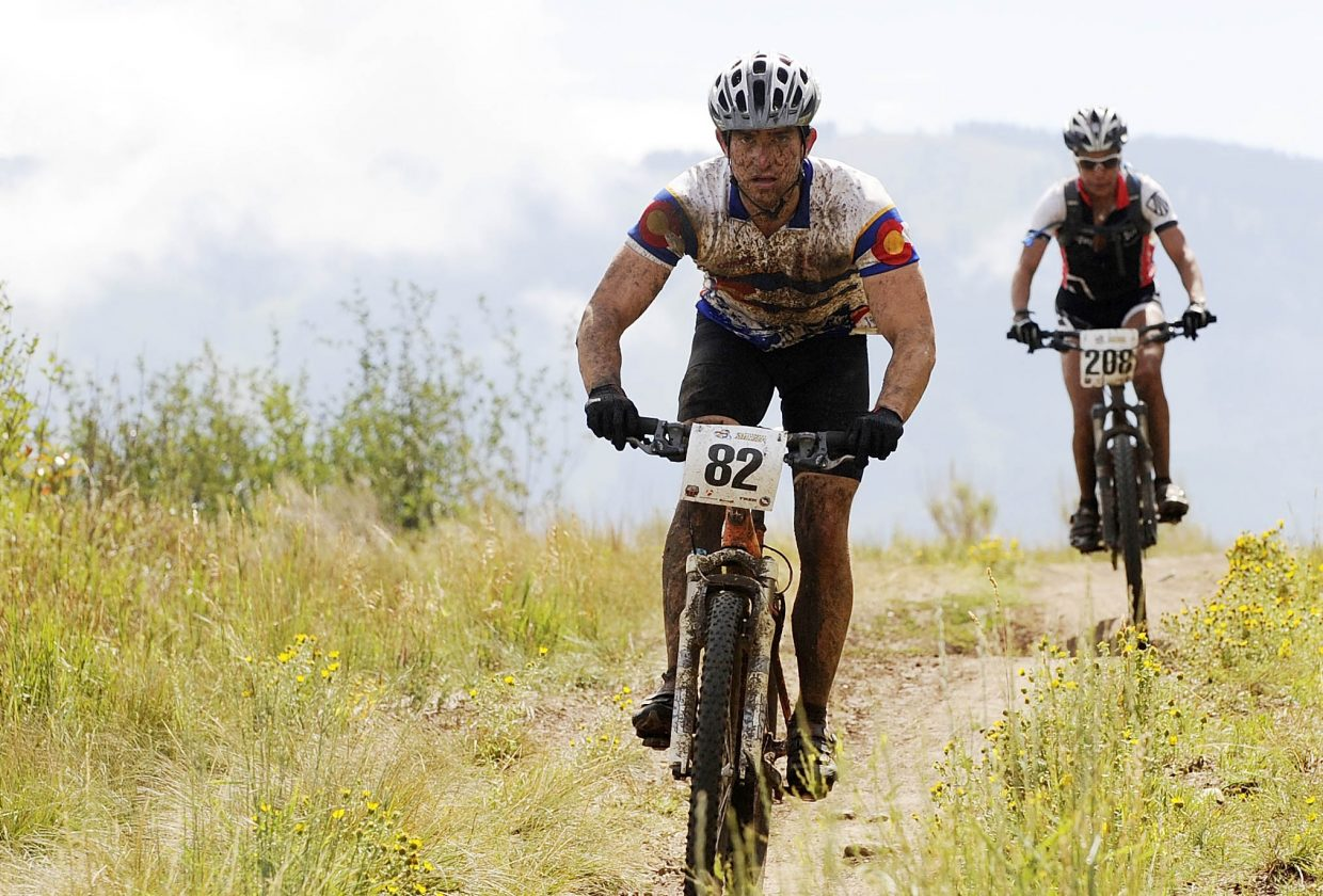 Jason Grubb competes Saturday in the Steamboat Stinger mountain bike race on Emerald Mountain.
